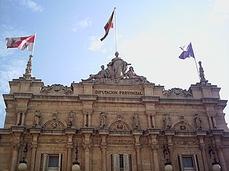 Palencia - Principal building of the Diputación Provincial´s Palace.