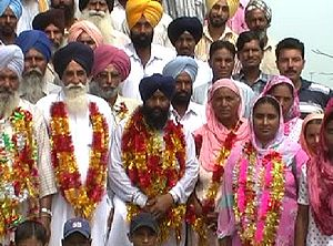 Panchayati raj (India) - Newly elected panchayat in Punjab, India