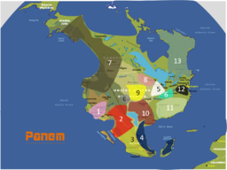 Panem Map Fan-made