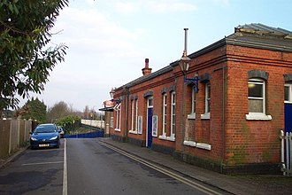 Pangbourne railway station - Station buildings from access road