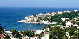 Ulcinj Castle - Image: Panorama of Ulcinj in Montenegro (2)