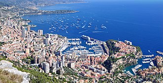 Tête de Chien - The Principality of Monaco as seen from Tête de Chien