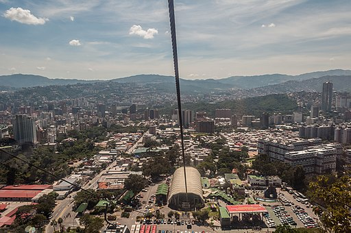 Panoramic view of Caracas from Teleférico