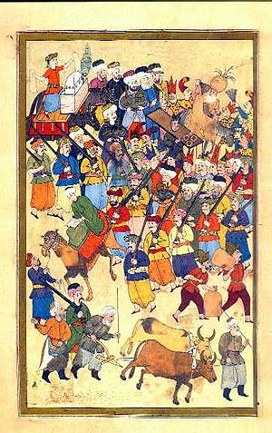 Surname-i Hümayun - The various guilds found in the Ottoman take part in the festivals, often through parades and processions.