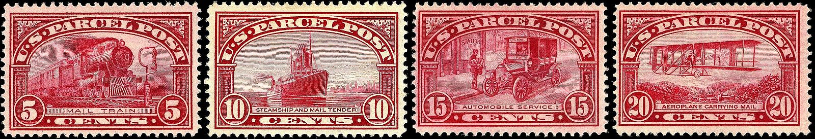 The Steamship Depicted On 10 Cent Stamp Is SS Kronprinz Wilhelm With A Mail Tender Along Its Starboard Side In New York Harbor