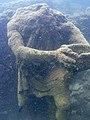 Parco archeologico di Baia - Ninfeo punta Epitaffio 11 - statua Ulisse.jpg