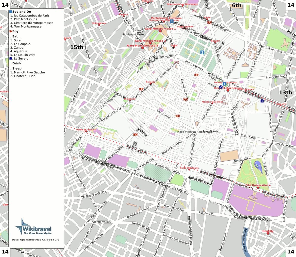 liste des voies du 14e arrondissement de paris wikip dia. Black Bedroom Furniture Sets. Home Design Ideas