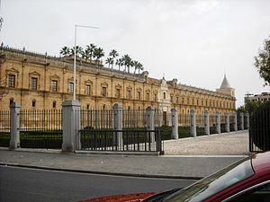Districts and neighbourhoods of Seville - The Andalusian Parliament meets in the Hospital de las Cinco Llagas in the Macarena.