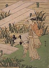 Parody of The Tales of Ise (Yatsuhashi Bridge chapter)