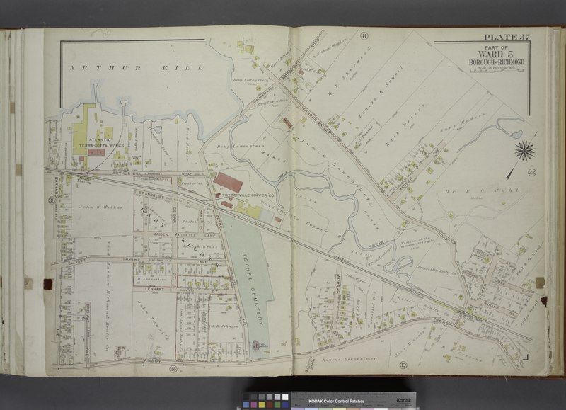File:Part of Ward 5. (Map bound by Arthur Kill, Arthur Kill Road (Fresh Kills RD), Richmond Valley Road, Madsen Ave, Butler St, Weiner St, Cole St, Winans St, Staten Island Rail Road, Amboy Road, NYPL1646304.tiff