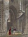 Parti av korgangen i Trondhjems Domkirke ca. 1860.jpg