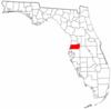Location of Pasco County