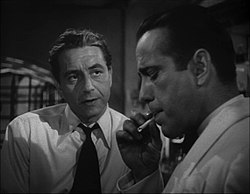 Paul Henreid and Humphrey Bogart in Casablanca trailer.jpg