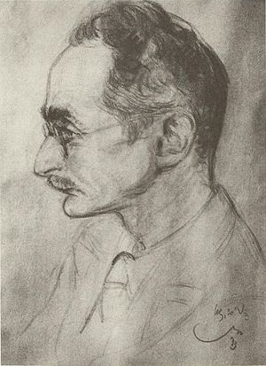Paul Maas (classical scholar) - Paul Maas. Charcoal drawing by Emil Stumpp
