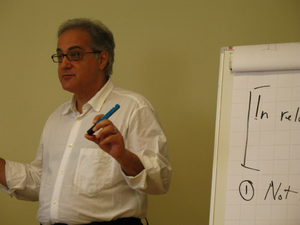Paul Boghossian - Paul Boghossian giving the Gottlob Frege Lectures in Theoretical Philosophy 2008 in Tartu, Estonia.