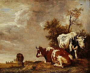 Three Cows in a Pasture
