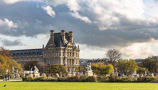 Pavillon de Flore from the Tuileries Garden, Paris