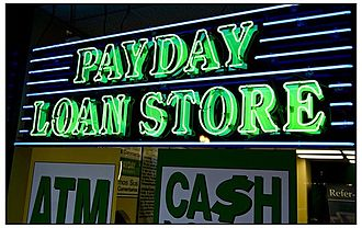 Payday loans in the United States - Payday loan storefront