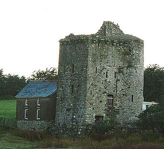 Angle, Pembrokeshire - Peel tower at Castle Farm, Angle.