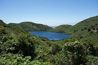 Pelican Lake (Marin County, California) - Pelican Lake seen from the Palomarin Trail near Alamere Falls.