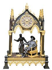 Pendule représentant François 1er et Marguerite de Navarre