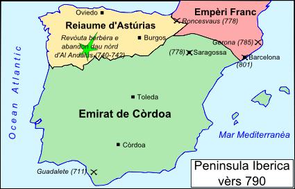 Peninsula Iberica vèrs 790