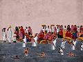 People bathing and praying in the holy river Ganga Wellcome V0046195.jpg