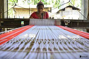 Majuli - A Deori Community Women weaving Gamusa