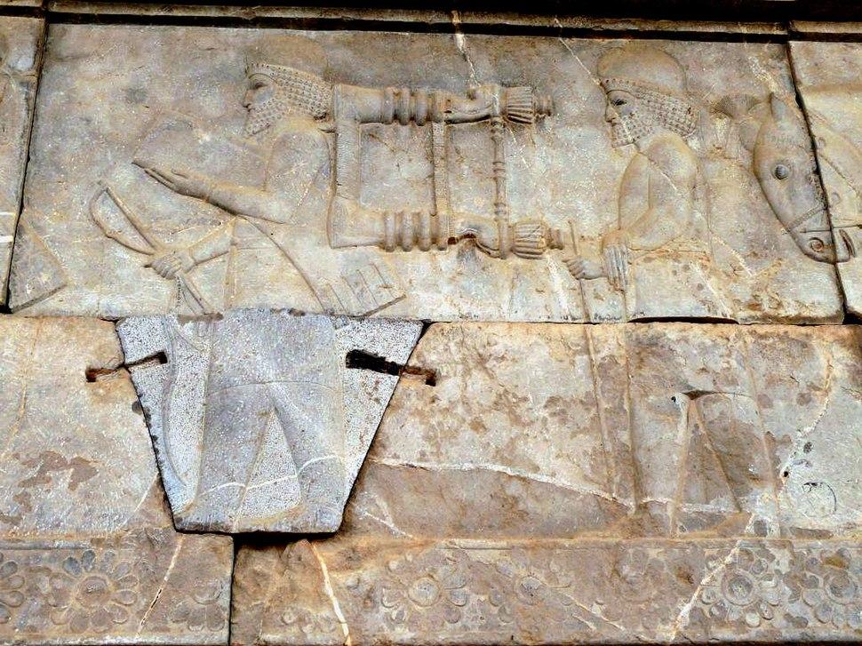 Persepolis Apadana royal chair carriers