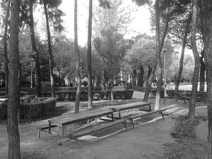 Speculative Fiction Group - Image: Persian Fantasy Academy meeting bench at Laleh Park in Tehran Iran