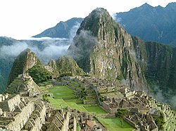 Panorama di Machu Picchu all'alba