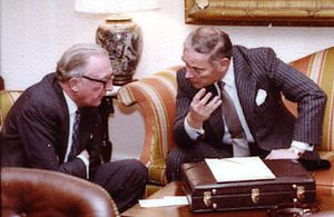 Peter Carington, 6th Baron Carrington - Carrington (then Secretary of State for Foreign and Commonwealth Affairs) and Alexander Haig (then US Secretary of State) meeting during visit of Margaret Thatcher to the United States