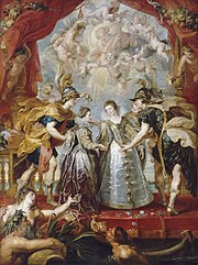 The Exchange of Princesses, from the Marie de' Medici Cycle. Louvre, Paris.