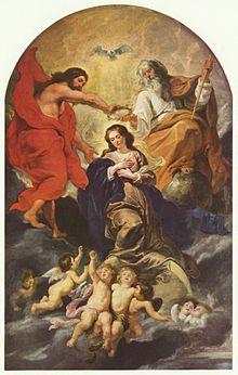 Coroação da Virgem Maria, de Rubens, século XVII.