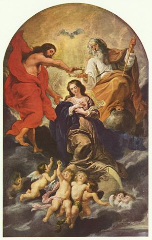 Coronation of the Virgin - A Baroque version by Rubens