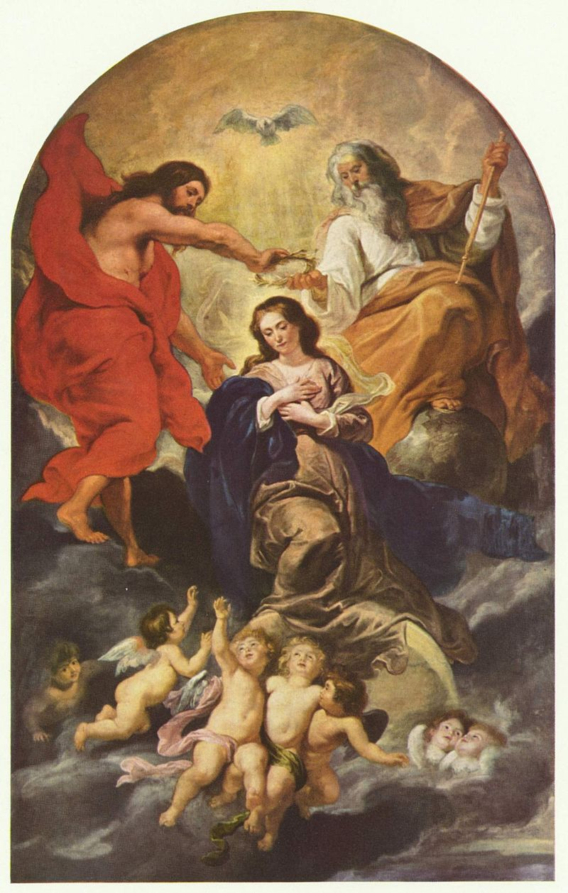 The coronation of the Virgin Mary by Rubens, c. 1625 [Wikipedia]