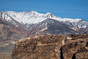 Bishop, California - Petroglyphs at Volcanic Tablelands BLM area, north of Bishop.