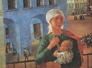 Soviet art - Image: Petrograd Madonna (Petrov Vodkin)
