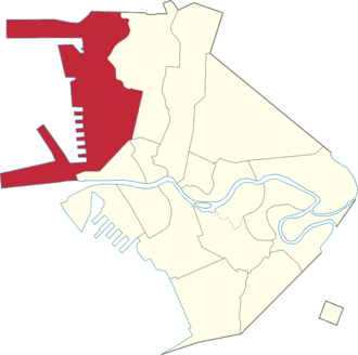 Legislative districts of Manila - Manila's current first district highlighted.
