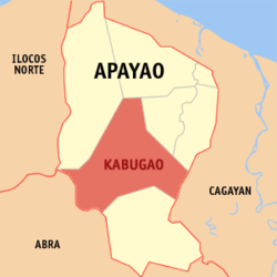 Map of Apayao showing the location of Kabugao
