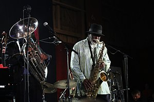 Howard Johnson (jazz musician) - Howard Johnson with Pharoah Sanders (2013)