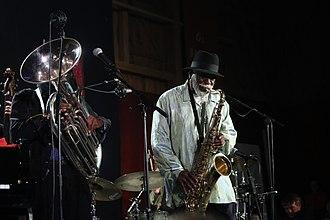Howard Johnson (jazz musician) - Howard Johnson with Pharoah Sanders (2013)