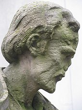 Head of Melanchton statue at Lessing-Gymnasium (Frankfurt), whose founder had been influenced by personal contacts with Melanchton (Source: Wikimedia)