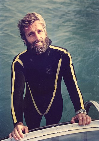 Philippe Cousteau - After a dive off the island of Isabella, near Mazatlan, Mexico, in 1975