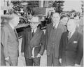 Photograph of President Truman with Secretary of Defense George C. Marshall, Secretary of State Dean Acheson, and... - NARA - 200235.tif