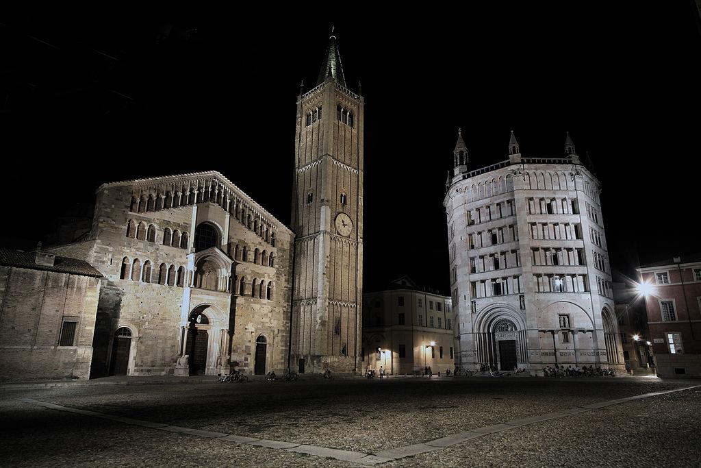 La cathédrale (Duomo) et la Baptistère de Parme - Photo de Filippo Aneli