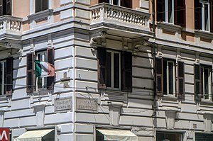 Piazzale Flaminio - Plaque of Piazzale Flaminio and Via Flaminia