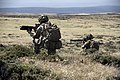 Pictured are soldiers, one operating an SA80 the other a LSW during a section level attack. MOD 45156941.jpg