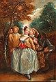 Pierre-Antoine Quillard - A Commedia dell'Arte scene with Columbina, Harlequin and Pierrot,.jpg