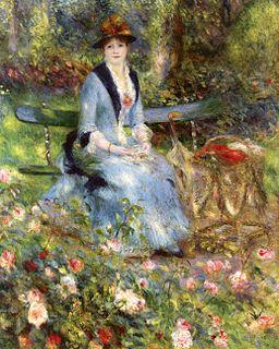 Pierre-Auguste Renoir - Dans les Roses (Madame Léon Clapisson)